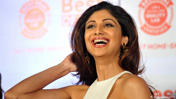 Indien Bollywood-Schauspielerin Shilpa Shetty (Getty Images/AFP)