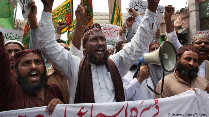 Pakistan Protest sunnitischer Muslime in Karachi 2010