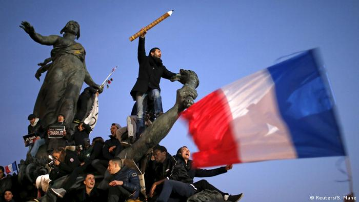 Demonstration on January 11, 2015 after the attacks on Charlie Hebdo, Copyright: Reuters/S. Mahe