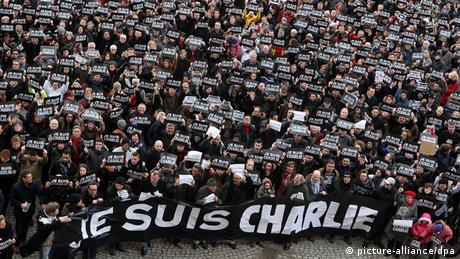 Frankreich Erster Jahrestag Charlie Hebdo Anschläge Je suis Charlie