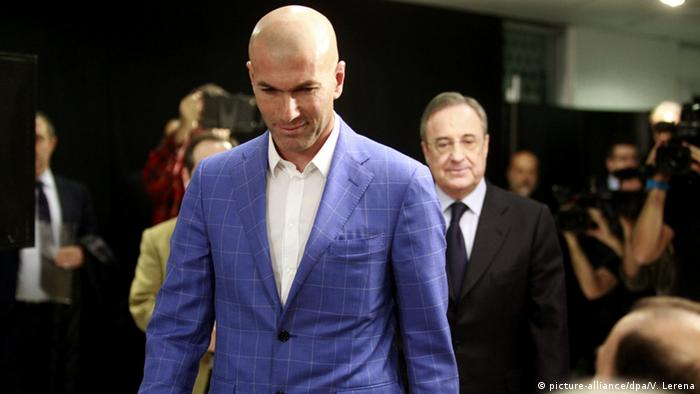 Spanien Zinedine Zidane in Madrid (picture-alliance/dpa/V. Lerena)