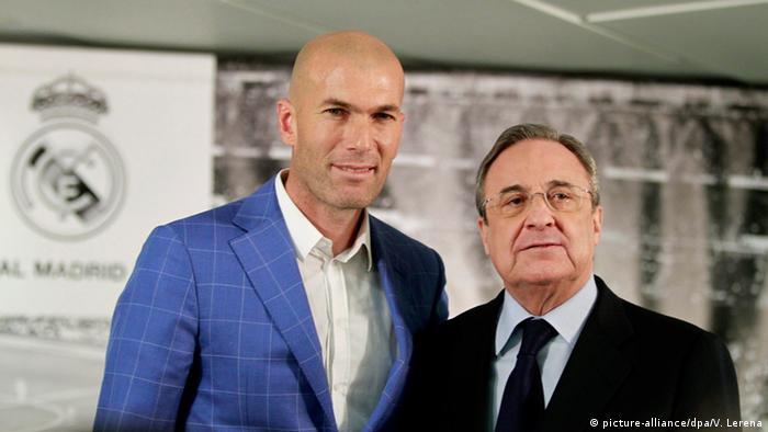 Spanien Zinedine Zidane und Florentino Perez in Madrid (picture-alliance/dpa/V. Lerena)
