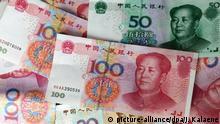 Verschiedene Yuan-Geldscheine
