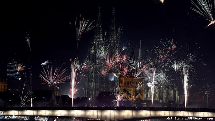 Празднование Нового года в Кельне