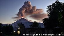 Indonesien Vulkan Soputan Vulkanausbruch