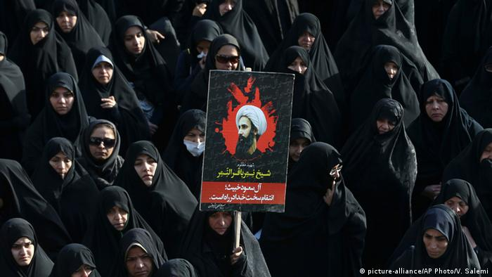 Iran Protest in Teheran gegen Hinrichtung in Saudi-Arabien (picture-alliance/AP Photo/V. Salemi)