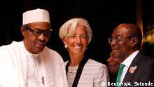 Nigeria Lagarde bei Buhari