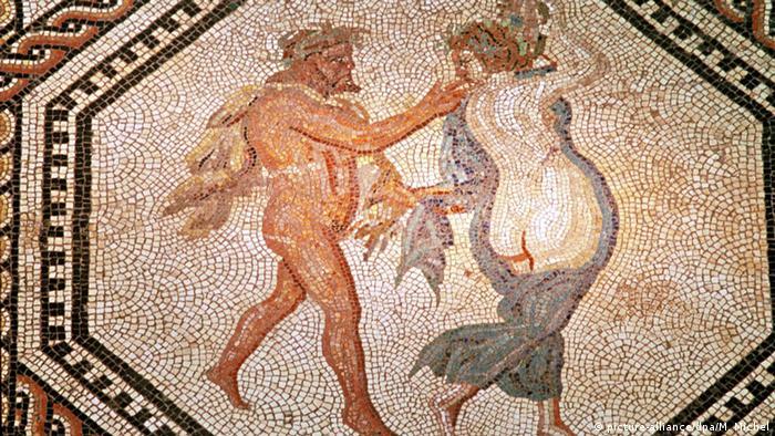 Фрагмент мозаики Дионисия в Римско-германском музее Кельна