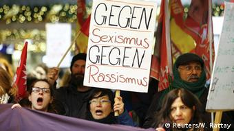 Protests in Cologne against violence against women