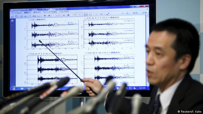 Nordkorea Japan Seizmographische Werte Wasserstoffbombe