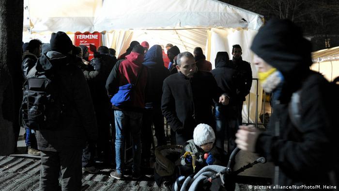 Беженцы в Берлине, январь 2016 года