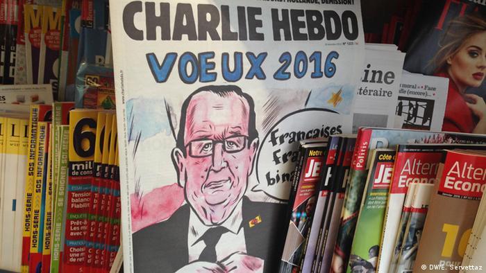 Frankreich Charlie Hebdo Pariser Kiosk
