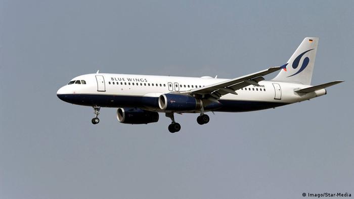 Airbus A 320-232 der Fluggesellschaft Blue Wings