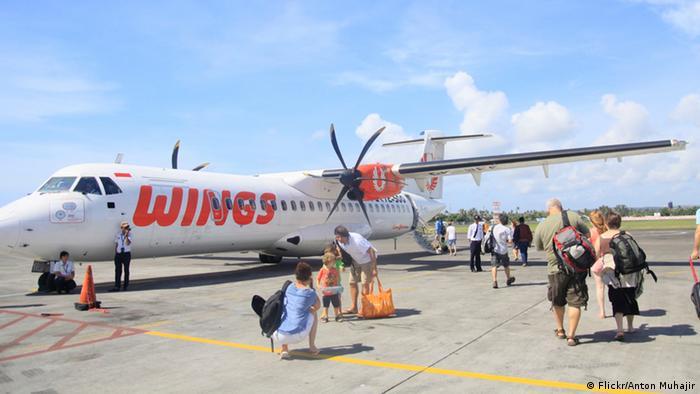 Flugzeug der Fluggesellschaft Wings Air