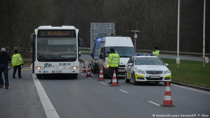 Deutsch-Dänischer Grenzübergang Froslev Grenzkontrollen