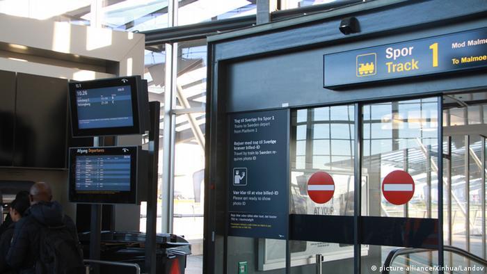 Controle de fronteira no aeroporto de Copenhague