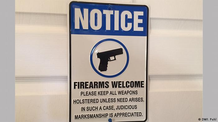 Notice: Firearms welcome — please keep all weapons holstered unless need arises