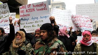 Syrien Proteste gegen Hungersnot in Madaya CLOSE