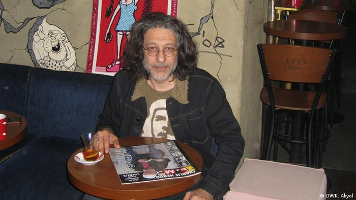 Tuncay Akgün, editor-in-chief of the satirical magazine Leman, published in Istanbul (Photo: Kürsat Akyol)