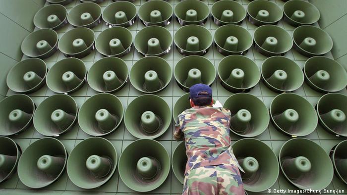 Südkorea Lautsprecher Propaganda