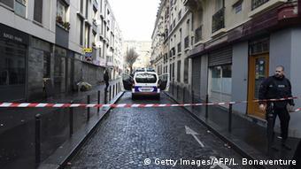 Sealed-off area in Paris