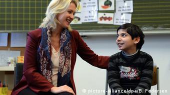 Deutschland Familienministerin Manuela Schwesig Willkommensklasse Grundschule