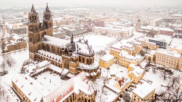 Магдебургский собор зимой