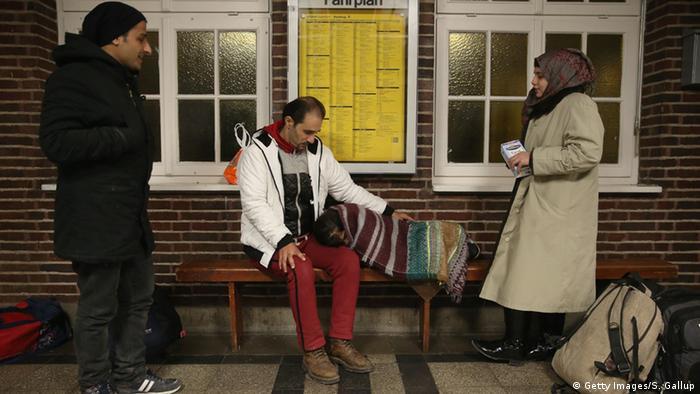 Deutschland Dänemark Grenze Flüchtlinge aus Syrien