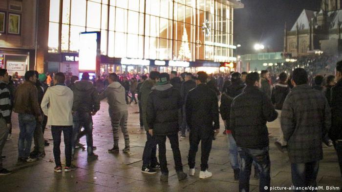Centrul metropolei germane Köln, în noaptea de Revelion