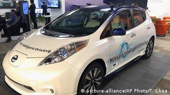 Прототип новой модели Nissan Leaf