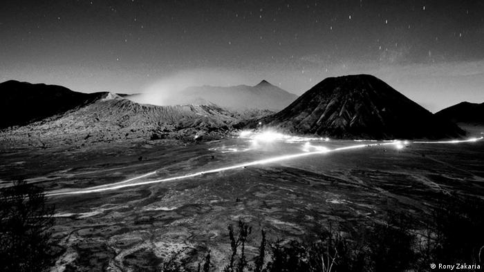 Indonesien Ost-Java Mount Bromo Tengger Caldera Nachtaufnahme