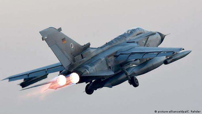 German Tornado jet takes off for the Incirlik base in Turkey