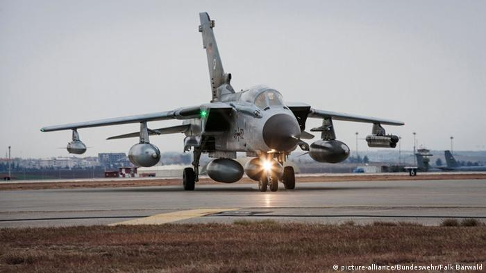 German Tornado jet lands at the Incirlik base in Turkey