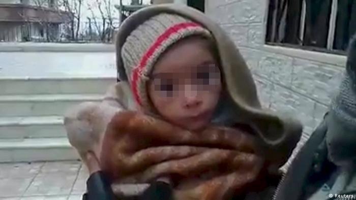 Syrien Hungernde in Madaja
