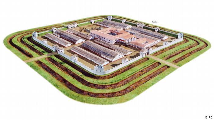 План одного из римских гарнизонов на территории Германии