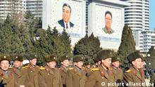 ©Kyodo/MAXPPP - 08/01/2016 ; North Koreans gather in Kim Il Sung Square in Pyongyang on Jan. 8, 2016, to celebrate what the country claims was a successful hydrogen bomb test. The day marked what is believed to be leader Kim Jong Un's 33rd birthday. (Kyodo) ==Kyodo