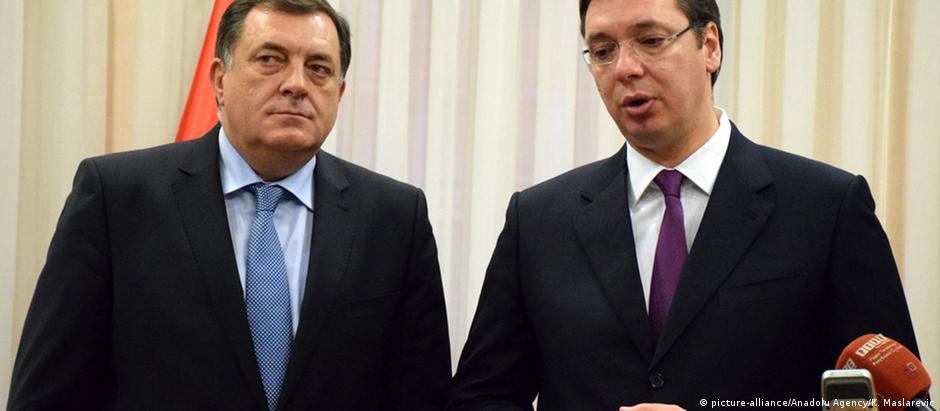Serbien Milorad Dodik & Aleksandar Vucic