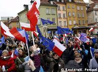 Демонстрация протеста против закона о СМИ в Варшаве