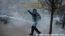 9.1.2016 Kosovo police fire tear gas to disperse opposition supporters during an anti-government protest in Pristina on January 9, 2016. Kosovo opposition called for demonstrations today demanding the resignation of the government amid controversy over an EU-sponsored deal with Serbia. / AFP / DRITON VITIA (Photo credit should read DRITON VITIA/AFP/Getty Images) Getty Images/AFP/D. Vitia