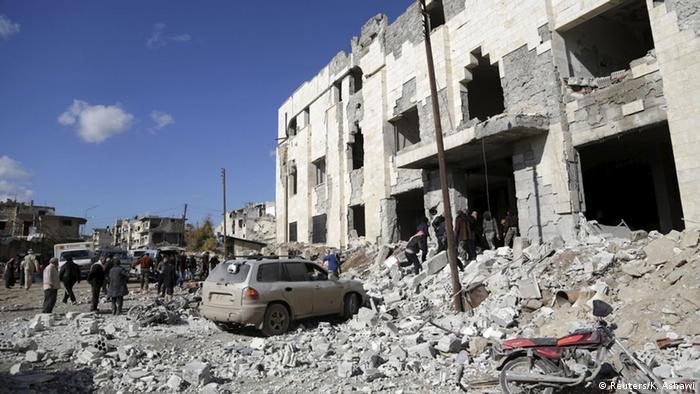Руйнування у провінції Ідліб, спричинені російськими бомбардуваннями (фото з архіву)