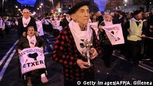 9.1.2016 Relatives of Basque prisoners take part in a demonstration called by the citizens' network Sare, protesting against dispersion of Basque prisoners, in the northern Spanish Basque city of Bilbao on January 9, 2016. Banners read in Basque Basque prisoners to home. 406 ETA members remained imprisoned in Spain and France on December 2015. AFP PHOTO / ANDER GILLENEA / AFP / ANDER GILLENEA (Photo credit should read ANDER GILLENEA/AFP/Getty Images) Reuters/V. West