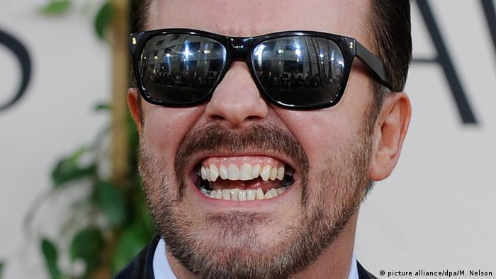 USA 73. Golden Globes Schauspieler Ricky Gervais in Beverly Hills