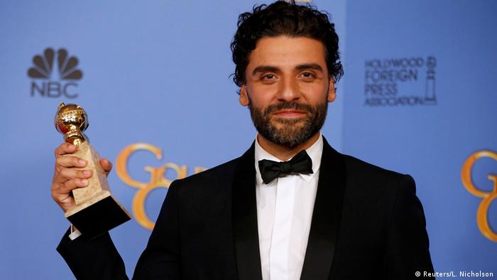 USA 73. Golden Globes Schauspieler Oscar Issac in Beverly Hills