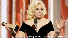 USA 73. Golden Globes Sängering Lady Gaga in Beverly Hills