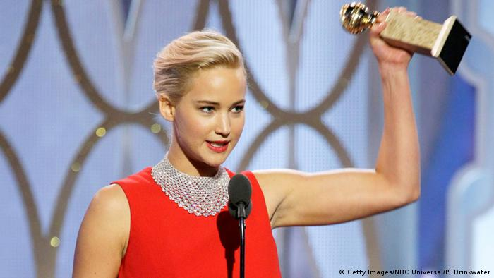 USA 73. Golden Globes Schauspielerin Jennifer Lawrence in Beverly Hills