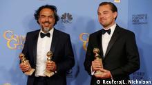 USA 73. Golden Globes Alejandro Inarritu und Leonardo DiCaprio