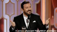USA 73. Golden Globes Ricky Gervais