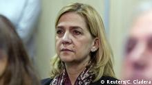 11.01.2016+++ Spain's Princess Cristina sits in court where she appears on charges of tax fraud, as a long-running investigation into the business affairs of her husband goes to trial, in Palma de Mallorca, Spain, January 11, 2016. REUTERS/Cati Cladera/Pool +++(C) Reuters/C. Cladera