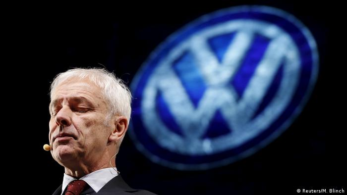 VW CEO Matthias Müller at this year's Auto Show in Detroit.