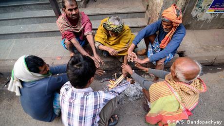 Indien Winter Kalkutta Bewohner